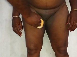 desi indian tamil telugu kannada malayalam hindi horny cheating wife vanitha friend wearing blue colour saree showing big boobs and shaved pussy press hard boobs press nip rubbing pussy masturbation